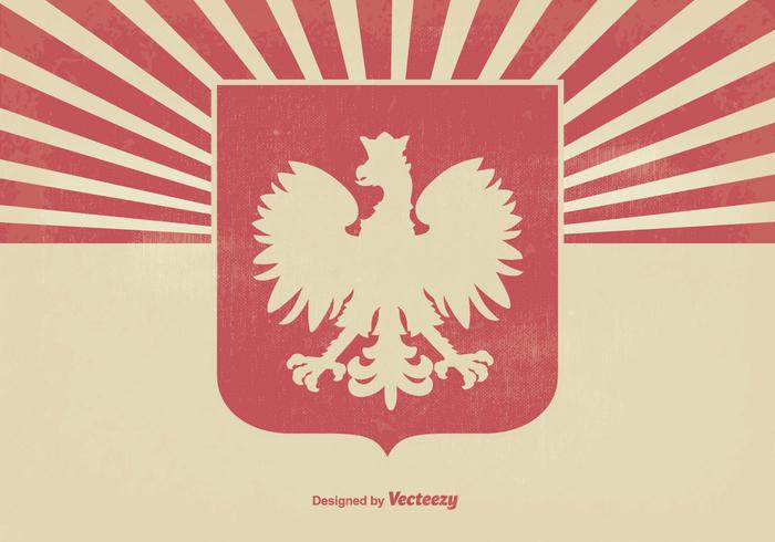 Polish Eagle Grunge Background