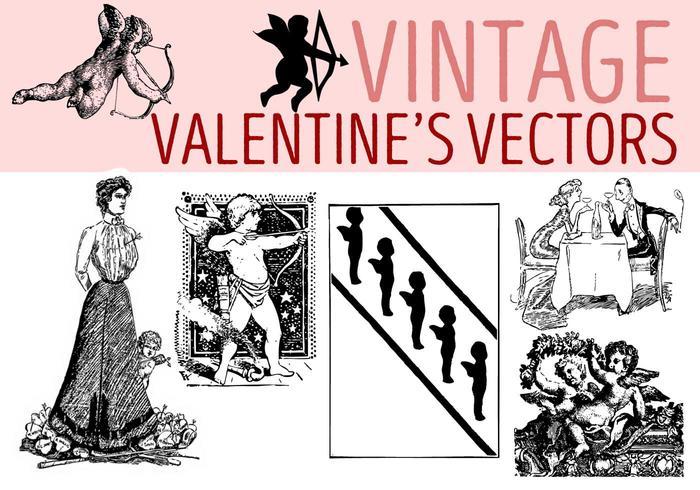 Vectoren van de Gratis Vintage Valentijnsdag