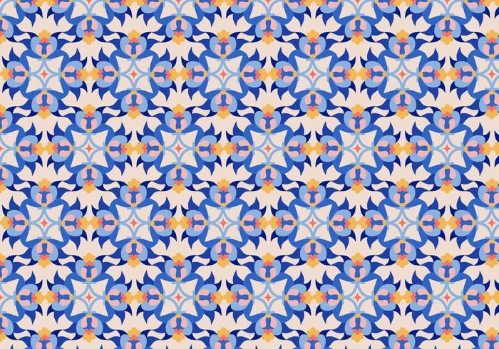 Bloemen Tegelpatroon vector
