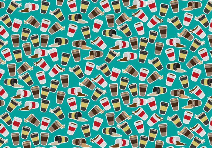 Coffee Sleeve Pattern Vector Free