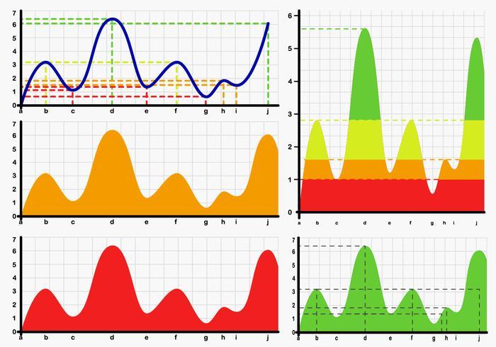 Bell Curve Chart Vectors