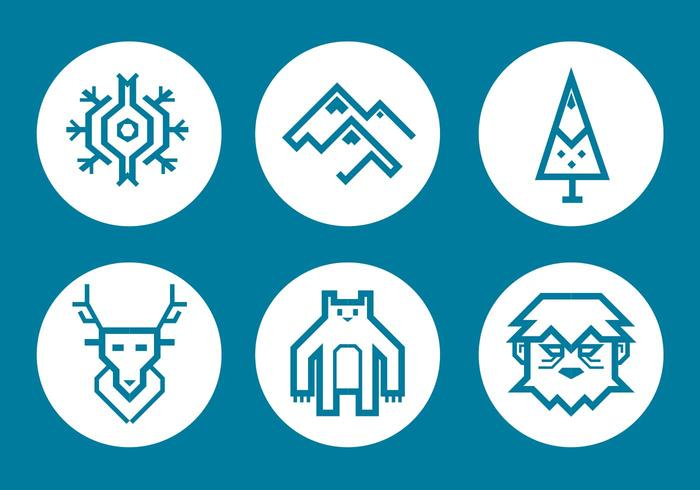 Yeti Vector Icon - Download Free Vectors, Clipart Graphics