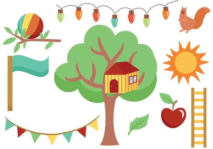 Árboles libres y vectores del patio trasero