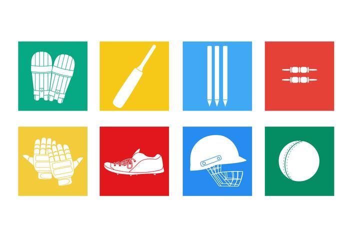 Cricket spelare vektorer platt ikon