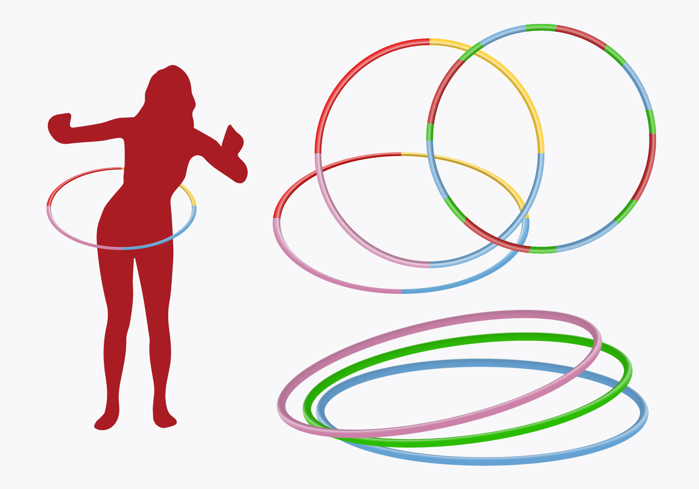 hula hoop girl vector download free vector art stock graphics images. Black Bedroom Furniture Sets. Home Design Ideas