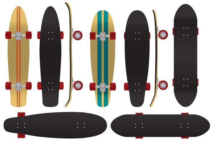 The Coolest Board To Play - Longboard Vectors