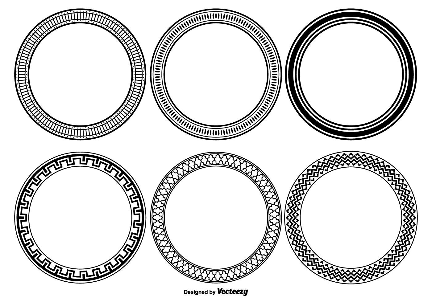 Decorative Vector Frame Set Download Free Vector Art