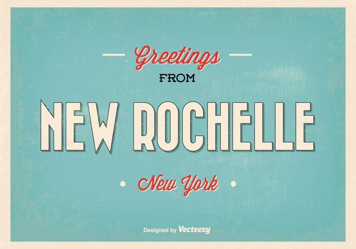 Ny rochelle new york hälsning illustration
