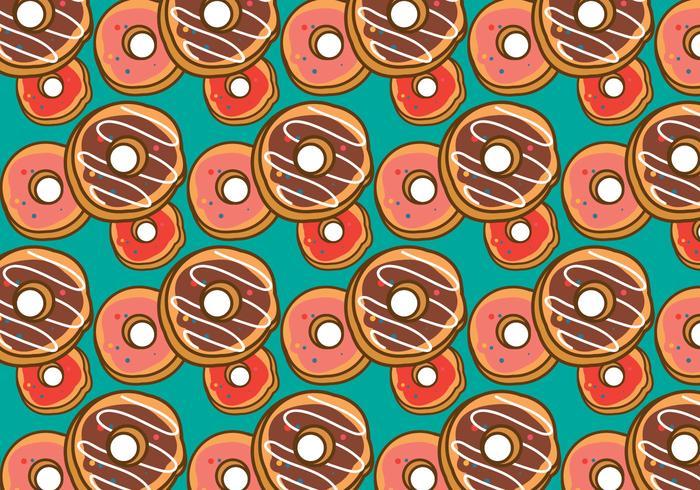Gratis Donut Mönster Vector
