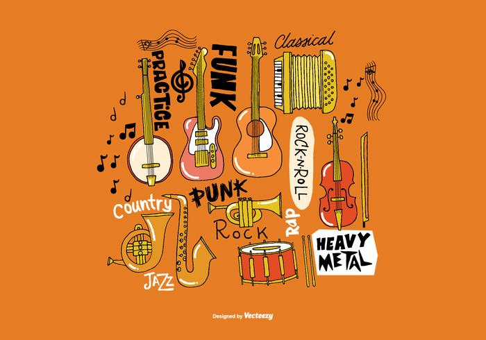 Hand Drawn Musical Instrument Vectors