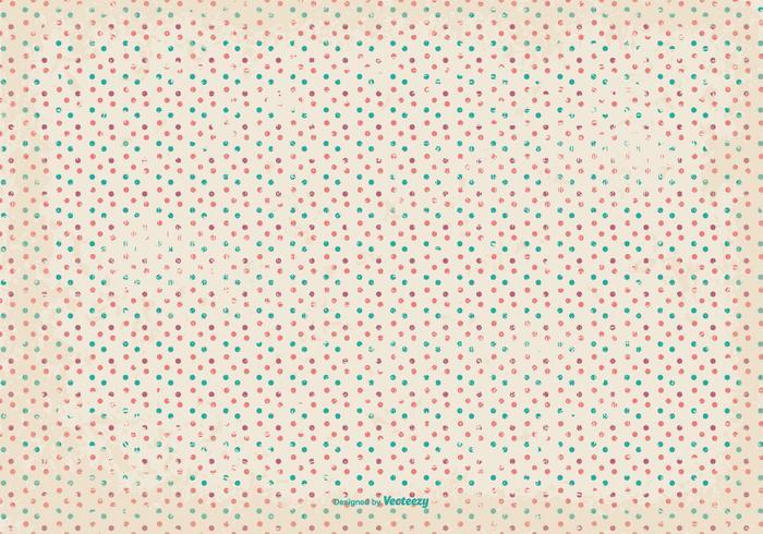 Retro Grunge Polka Dot Pattern Background