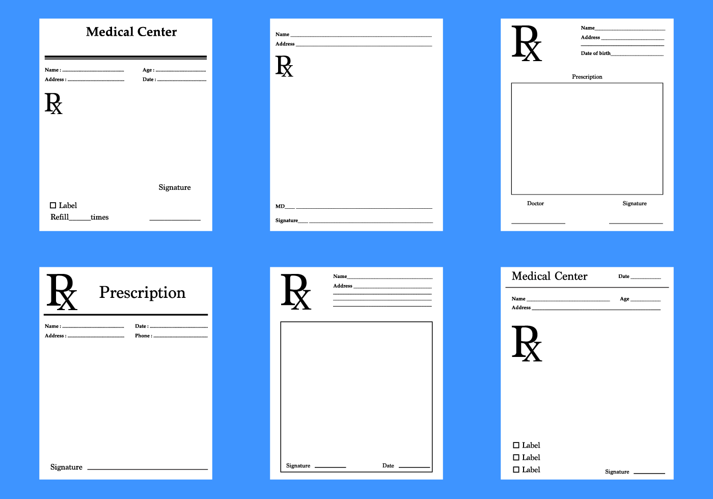 prescription pad template download - free prescription pad vector download free vector art