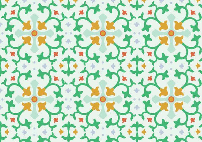 Padrão de vetor de mosaico floral