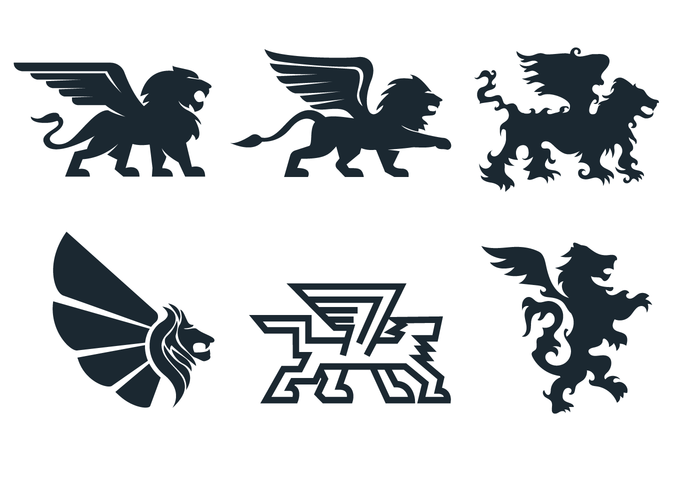 Free Winged Lion Vector