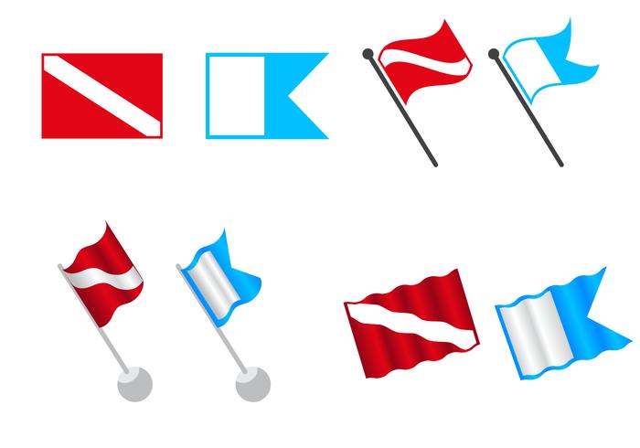 Free Dive Flag Vector