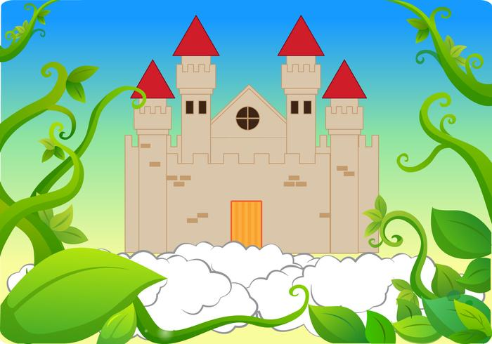 Castelo de Beanstalk Background Vector
