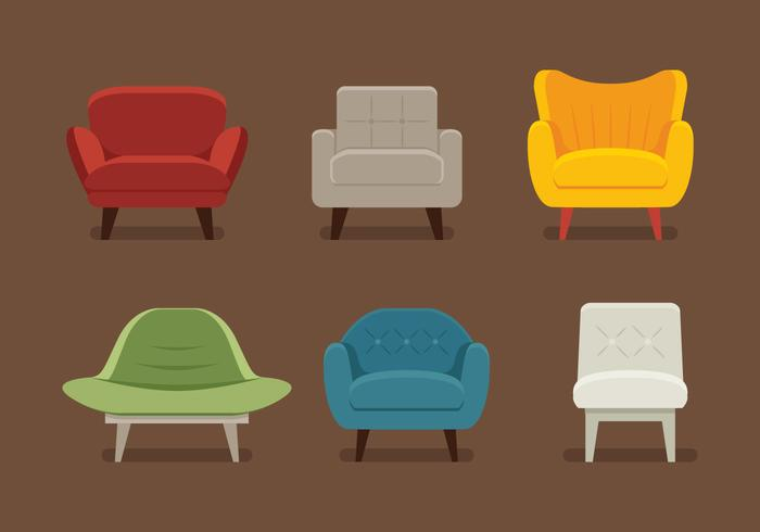 Midcentury Chair Vectors