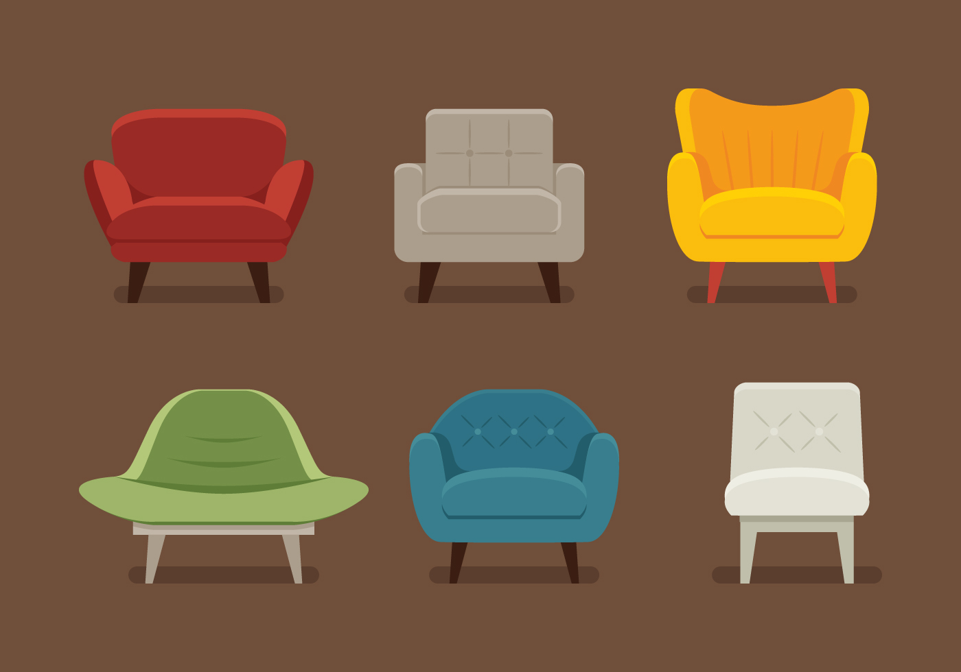 Midcentury Chair Vectors Download Free Vector Art Stock