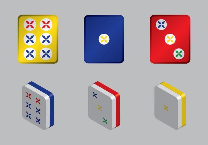 Ilustração vetorial mahjong grátis
