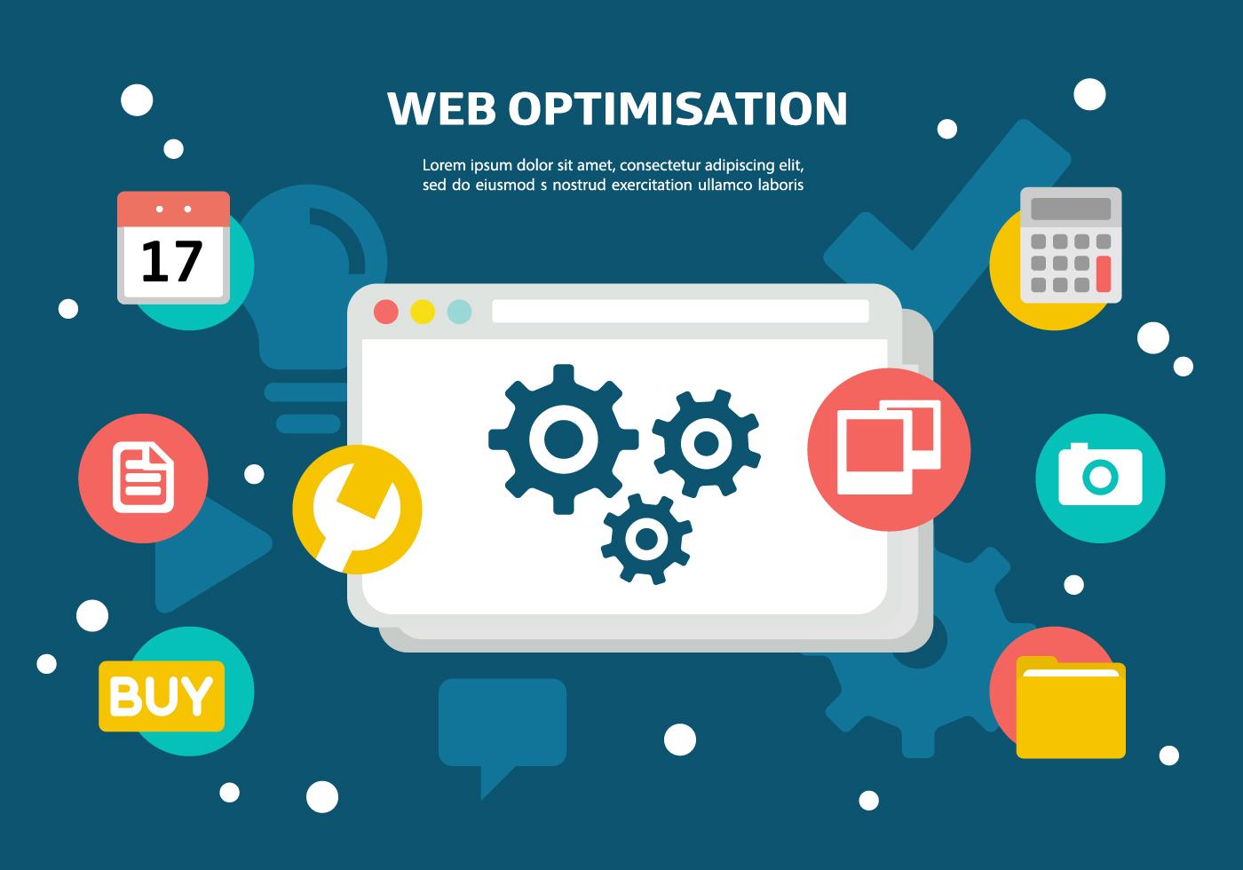 Vector Illustration Web Designs: Free Web Optimisation Vector