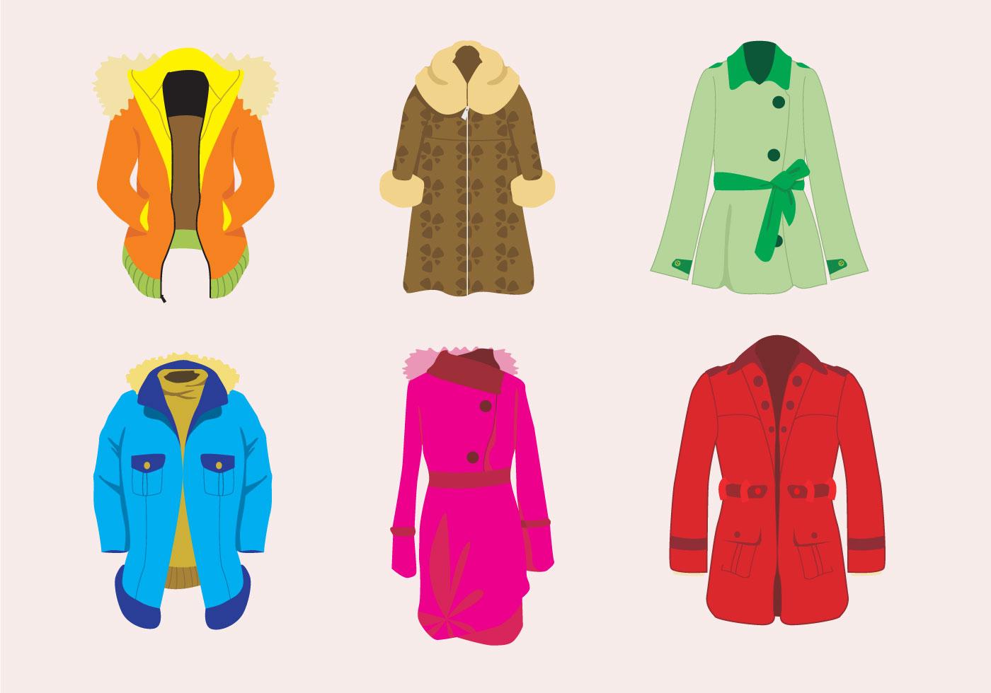 Stylish Winter Coat Vector - Download Free Vectors ...