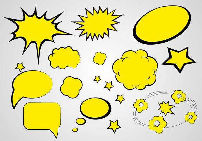 Free Comics Speech Vector - Download Free Vectors, Clipart