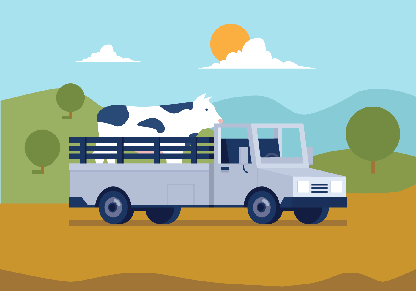 Vintage Farmers Market Sign Vector Farm Truck - Do...