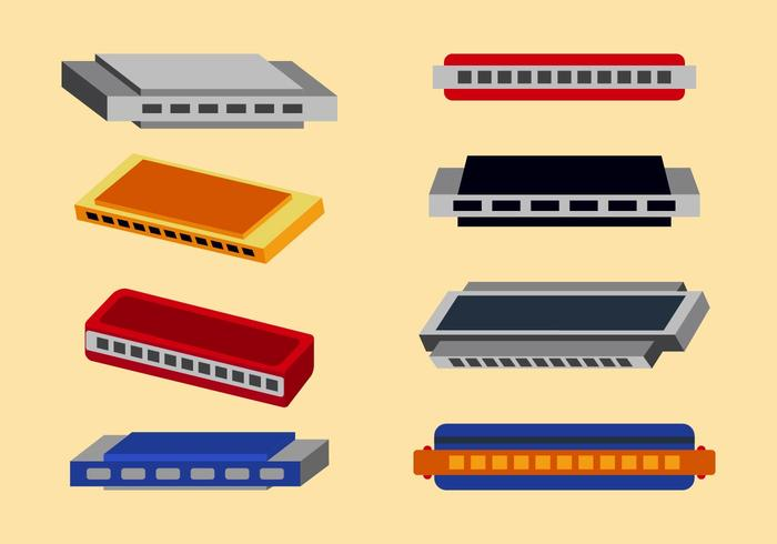 Free Harmonica Vector Pack