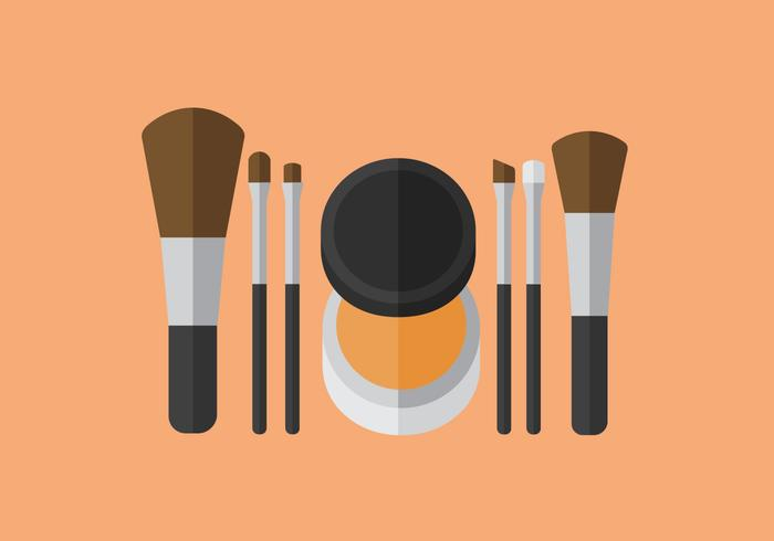 Vector Make Up Brush