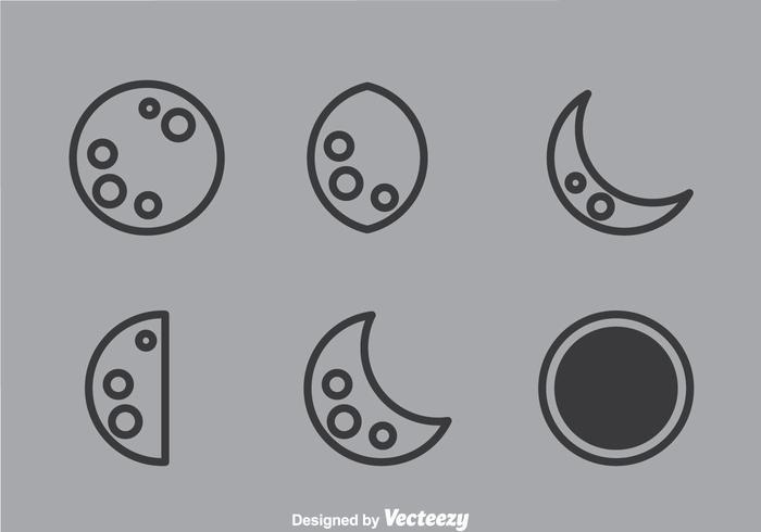 Ícones do quadro lunar