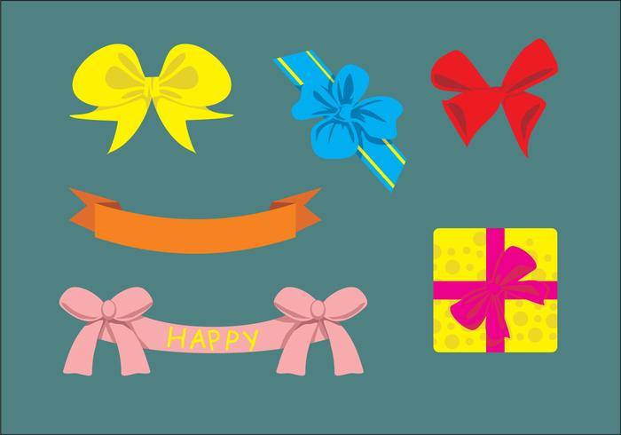 Cute Birthday Ribbons Vector