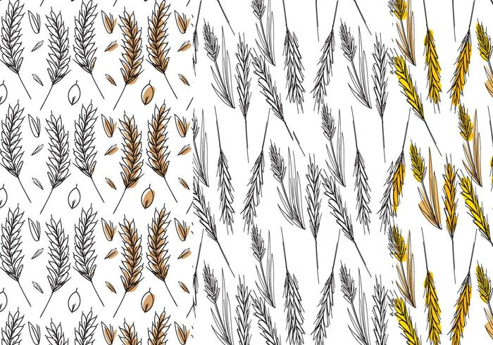 Wheat Stalk Pattern Set