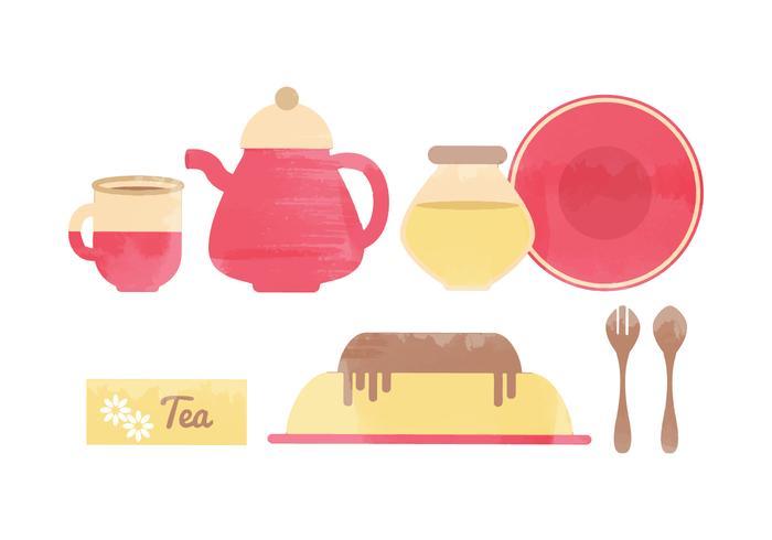 Vector Kitchen Watercolor Elements