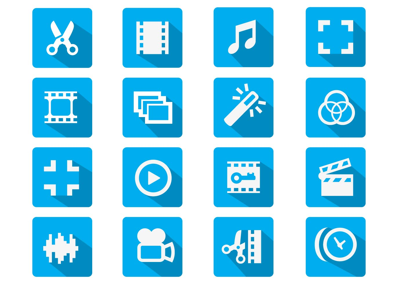 Video Editing Flat Icon Download Free Vector Art Stock