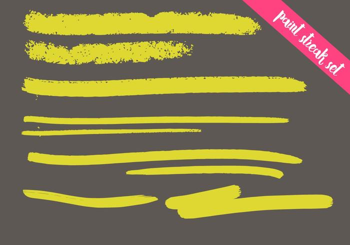 Paint Streak Vector Set - Colorful