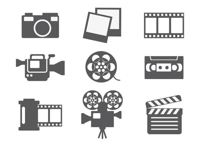 Videobewerking pictogram vector