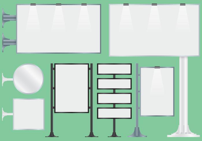 Ventana en blanco Hoarding vectores