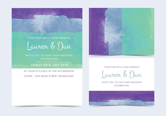 Blue Watercolor Vector Invitation