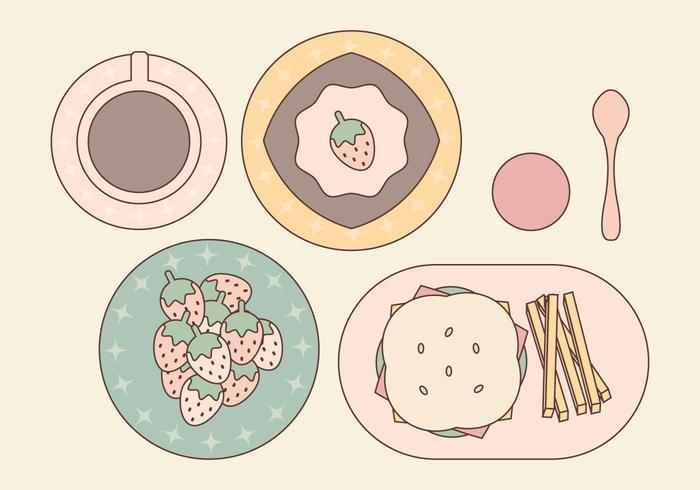 Set di cibo vettoriale