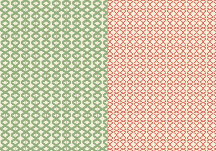 Patrón Lineal Verde vector