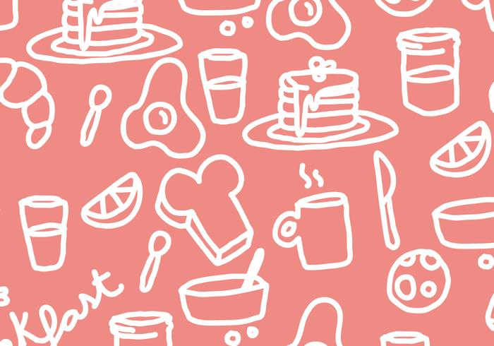 Pancake Breakfast Pattern Vector