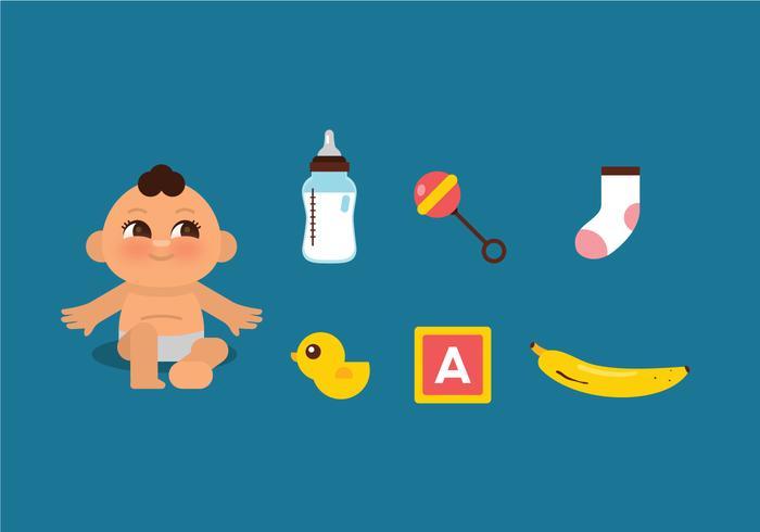 Vector baby spullen