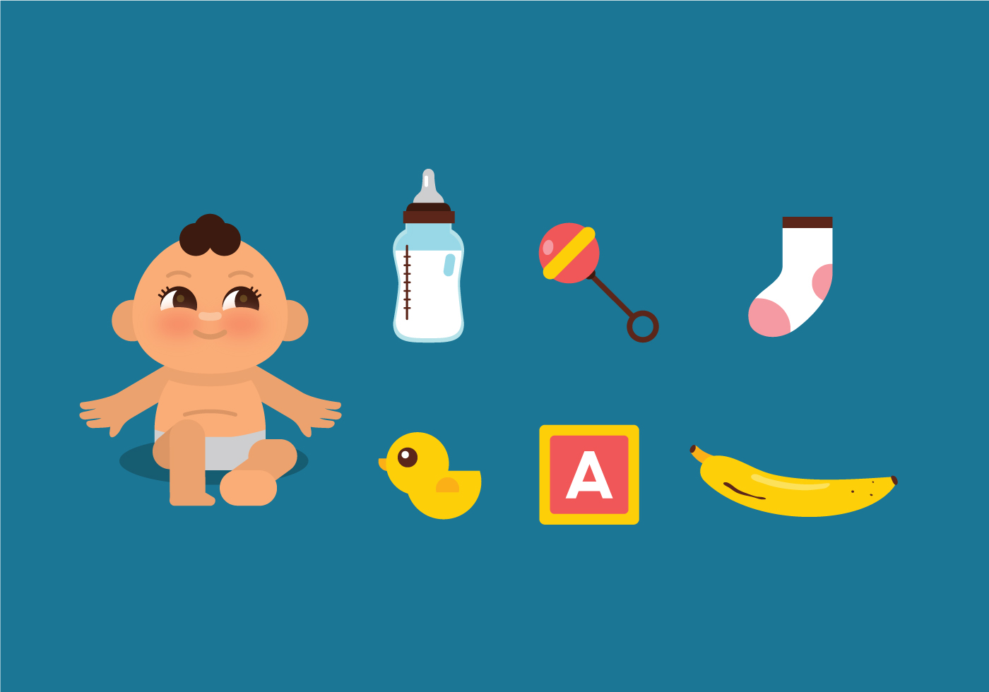 Vector Baby Stuff - Download Free Vectors, Clipart ...