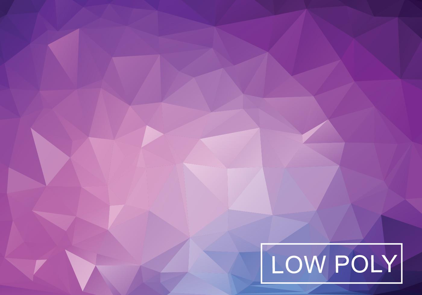 Purple Geometric Low Poly Style Illustration Vector ...