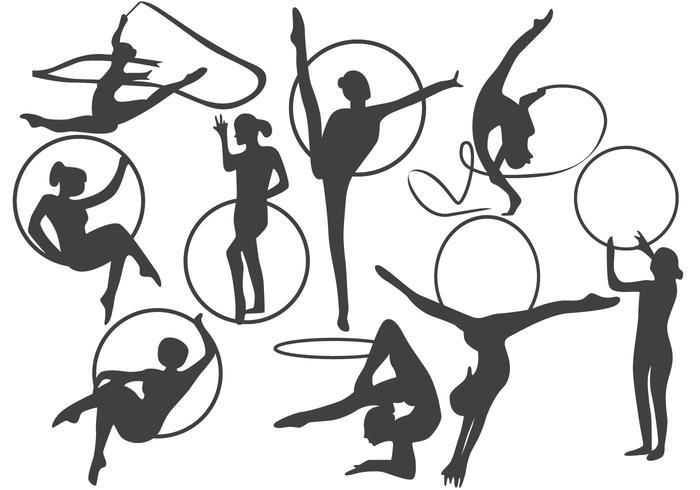 Vector de aro de gimnasia rítmica