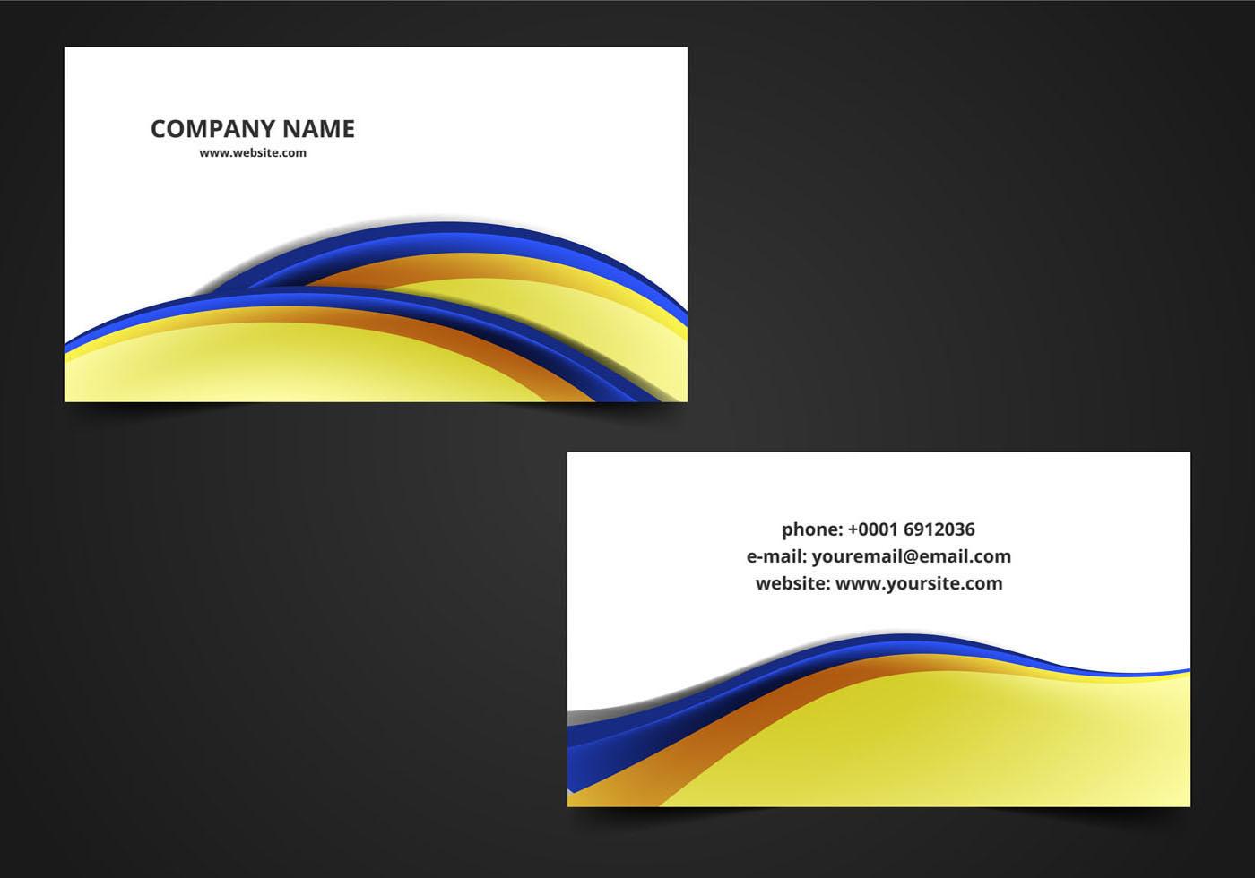 free vector abstract visiting card  download free vector