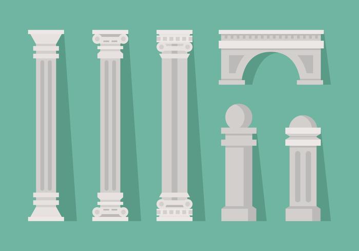 Vector Roman Pillar