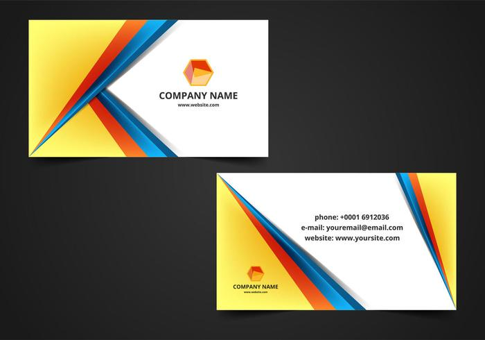 Free Vector Visiting Card Background