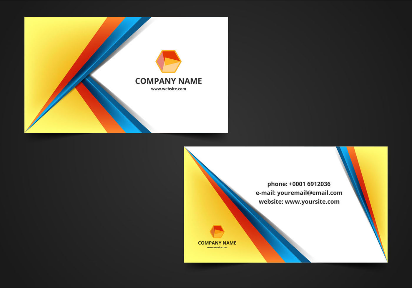 Free Vector Visiting Card Background - Download Free ...