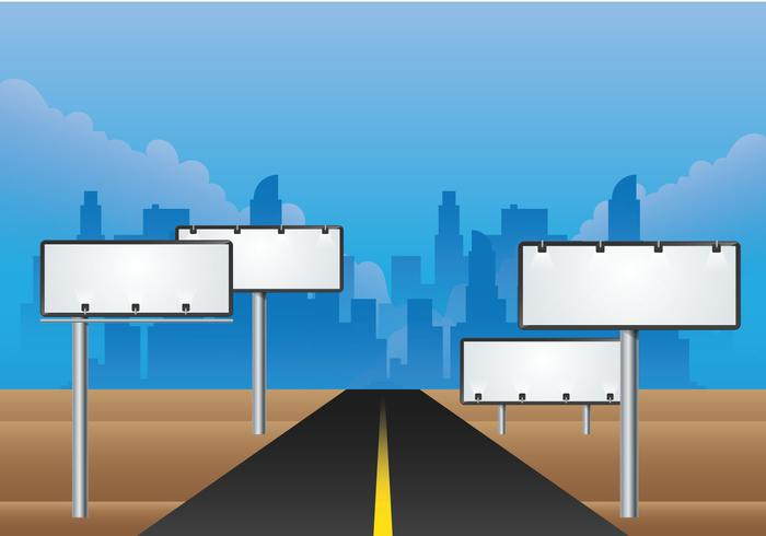 Hoarding Billboard Vector Road